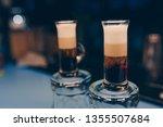 three alcohol booze shooter... | Shutterstock . vector #1355507684
