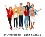 vector illustration group... | Shutterstock .eps vector #1355523611