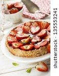 strawberry and almond tart | Shutterstock . vector #135553241