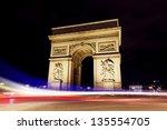 paris triumph arc during night | Shutterstock . vector #135554705
