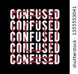 confused slogan mixed... | Shutterstock .eps vector #1355553041