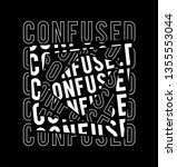 confused slogan mixed... | Shutterstock .eps vector #1355553044