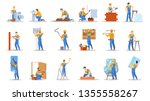 home repair worker set.... | Shutterstock .eps vector #1355558267