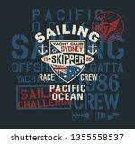 pacific ocean regatta sailing... | Shutterstock .eps vector #1355558537