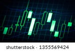 abstract financial trading... | Shutterstock . vector #1355569424