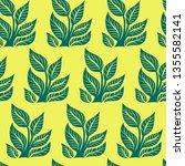 vector seamless floral pattern... | Shutterstock .eps vector #1355582141
