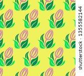 vector seamless floral pattern... | Shutterstock .eps vector #1355582144