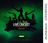 cricket championship banner or... | Shutterstock .eps vector #1355585531