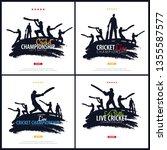 set of cricket championship... | Shutterstock .eps vector #1355587577