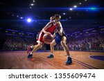 basketball player n action.... | Shutterstock . vector #1355609474