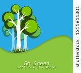 environment day background | Shutterstock . vector #1355611301