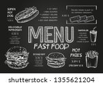 restaurant food menu design... | Shutterstock .eps vector #1355621204