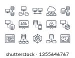 network and hosting related... | Shutterstock .eps vector #1355646767