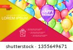 happy birthday bright concept | Shutterstock .eps vector #1355649671