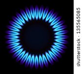 natural gas flame. vector...