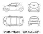 outline vector car isolated on... | Shutterstock .eps vector #1355662334