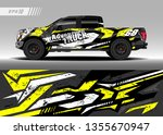 truck wrap design vector.... | Shutterstock .eps vector #1355670947