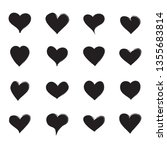 heart icons set isolated on... | Shutterstock .eps vector #1355683814