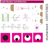 physics light and reflection... | Shutterstock .eps vector #1355715821