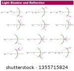 physics light and reflection... | Shutterstock .eps vector #1355715824