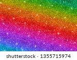 multicolored glitter background ... | Shutterstock .eps vector #1355715974