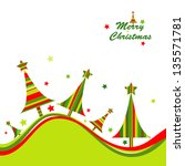 christmas tree background | Shutterstock . vector #135571781