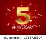 template logo 5 years... | Shutterstock .eps vector #1355728907