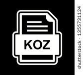 koz file document icon  | Shutterstock .eps vector #1355731124