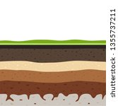 layers of grass with... | Shutterstock .eps vector #1355737211