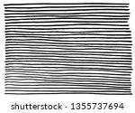 hand drawn horizontal stripes... | Shutterstock .eps vector #1355737694