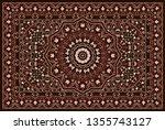 vintage arabic pattern. persian ... | Shutterstock .eps vector #1355743127