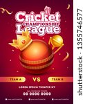 cricket championship league... | Shutterstock .eps vector #1355746577
