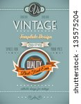 vintage retro page template for ... | Shutterstock .eps vector #135575204