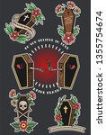 traditional tattoo design...   Shutterstock .eps vector #1355754674