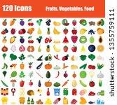 set of 120 icons. fruit ...   Shutterstock .eps vector #1355759111
