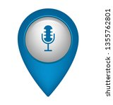 microphone and map pin. logo...