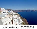 beautiful village of oia in... | Shutterstock . vector #1355765831