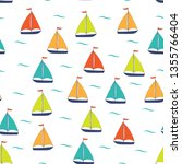 marine seamless pattern with... | Shutterstock .eps vector #1355766404