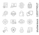 data protection icons. vector...