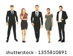 group of business people ... | Shutterstock .eps vector #1355810891