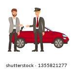 driver and passenger flat... | Shutterstock .eps vector #1355821277