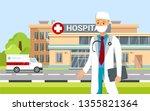 therapist near hospital...   Shutterstock .eps vector #1355821364