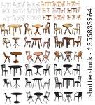 vector  isolated  set of... | Shutterstock .eps vector #1355833964