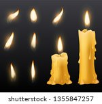 burning candles. romantic...   Shutterstock .eps vector #1355847257