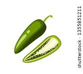 mexican cuisine. sliced... | Shutterstock .eps vector #1355851211