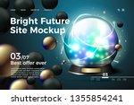 vector realistic 3d fortune... | Shutterstock .eps vector #1355854241