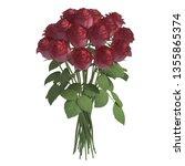 flowers 3d illustration... | Shutterstock . vector #1355865374