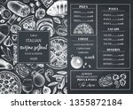 italian cuisine menu design.... | Shutterstock .eps vector #1355872184