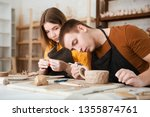 couple in casual clothes and... | Shutterstock . vector #1355874761