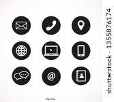 contact icon set vector | Shutterstock .eps vector #1355876174
